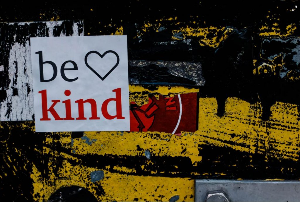 Be kind, that's all…